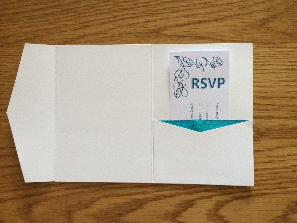 Diy pocketfold wedding invitations mummy vs work for Diy wedding invitations vs professional