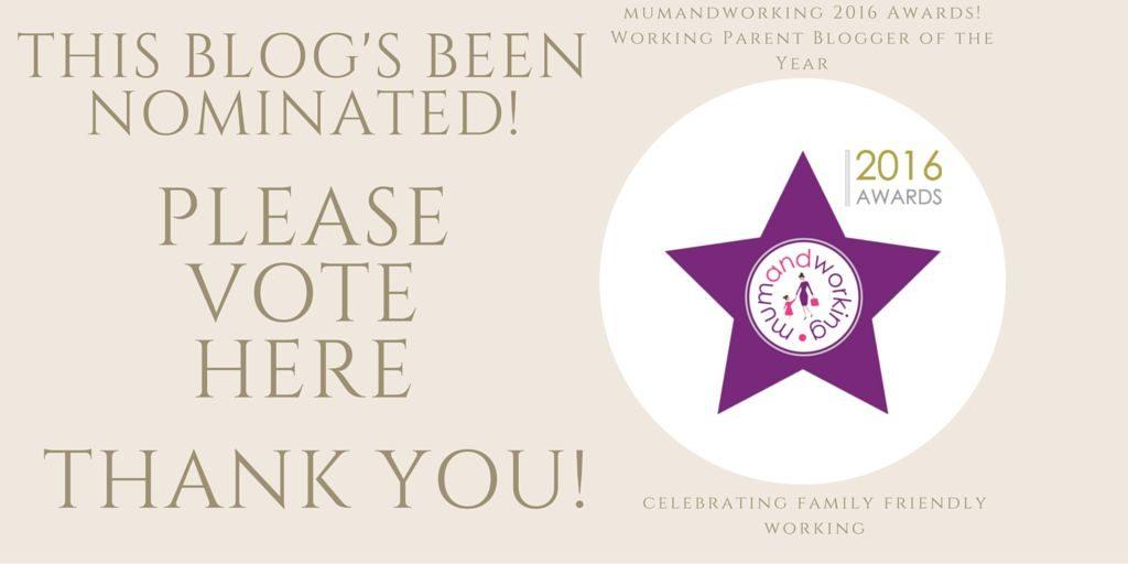 we've been nominated blog award, Shortlist