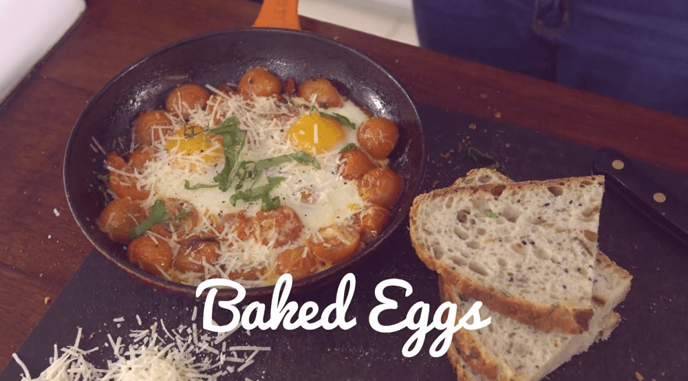 Healthy simple meals with eggs