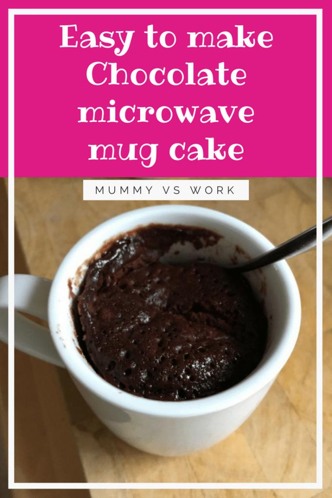 Easy to make Chocolate microwave mug cake