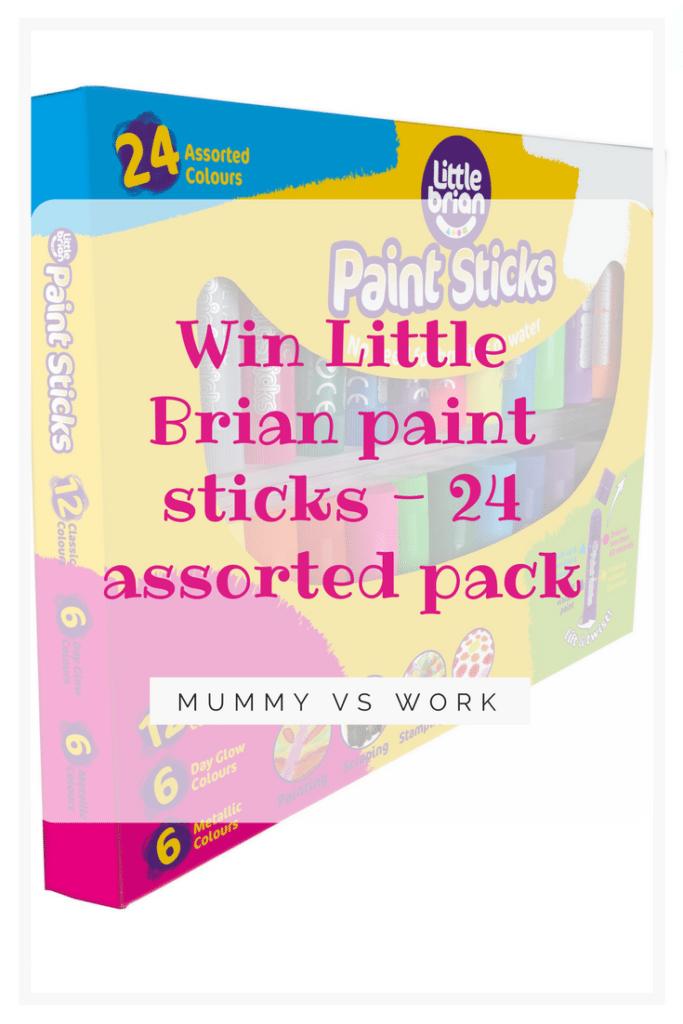 Win Little Brian paint sticks - 24 assorted pack
