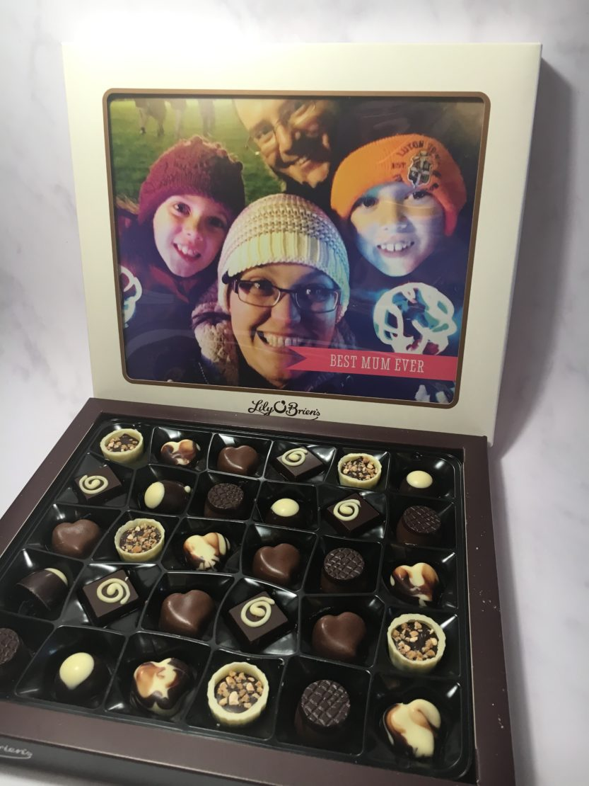 Gifts for mum this Mother's Day - Funky Pigeon Lily O'Briens personalised chocolates