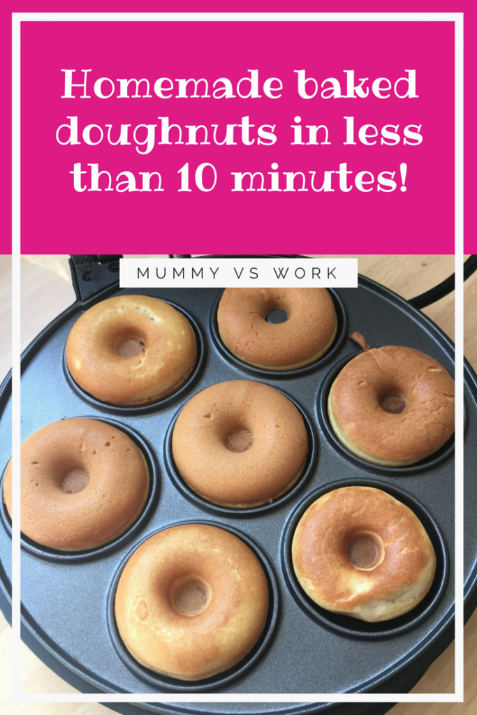 Homemade baked doughnuts in less than 10 minutes!