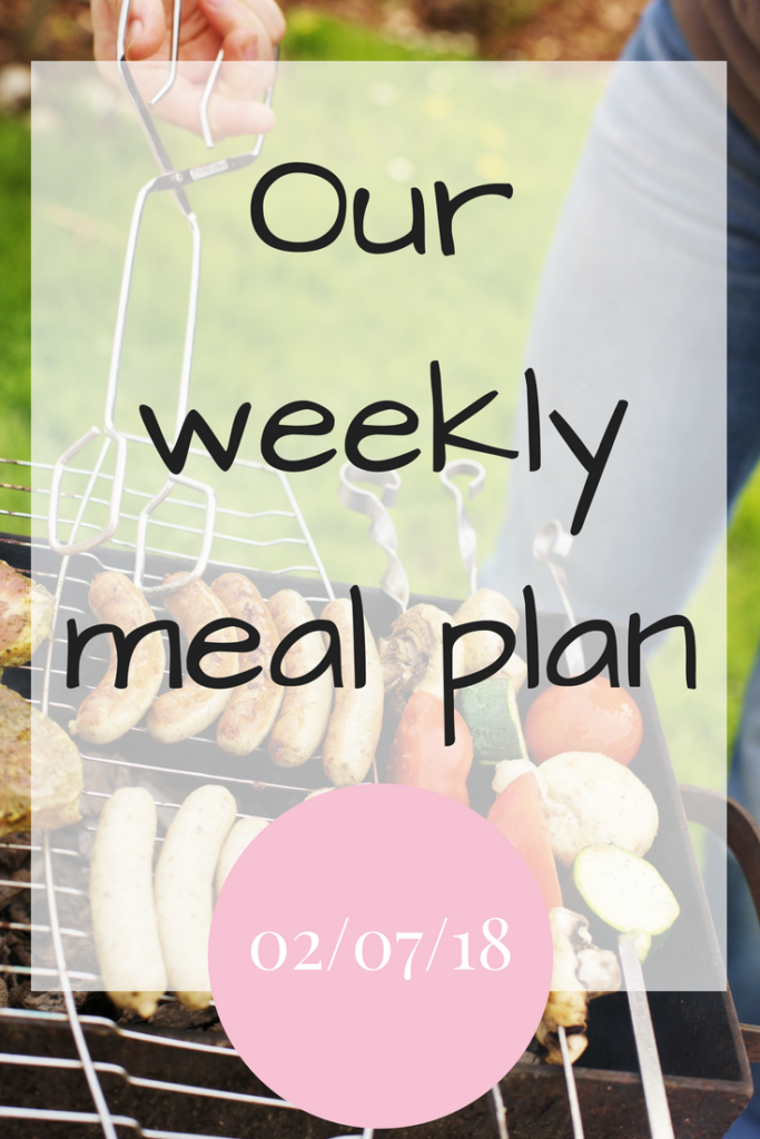 Our weekly meal plan 020718