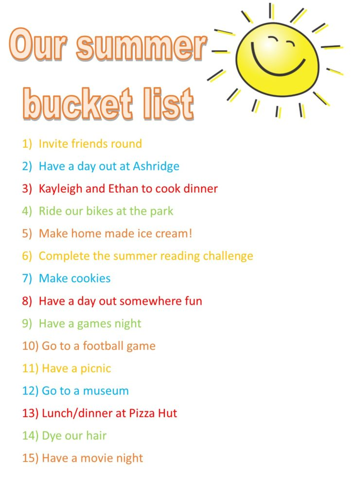 Summer bucket list - #MVWBucketList