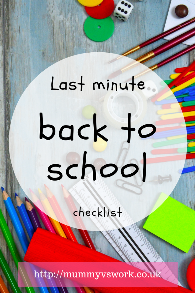 Last minute back to school checklist