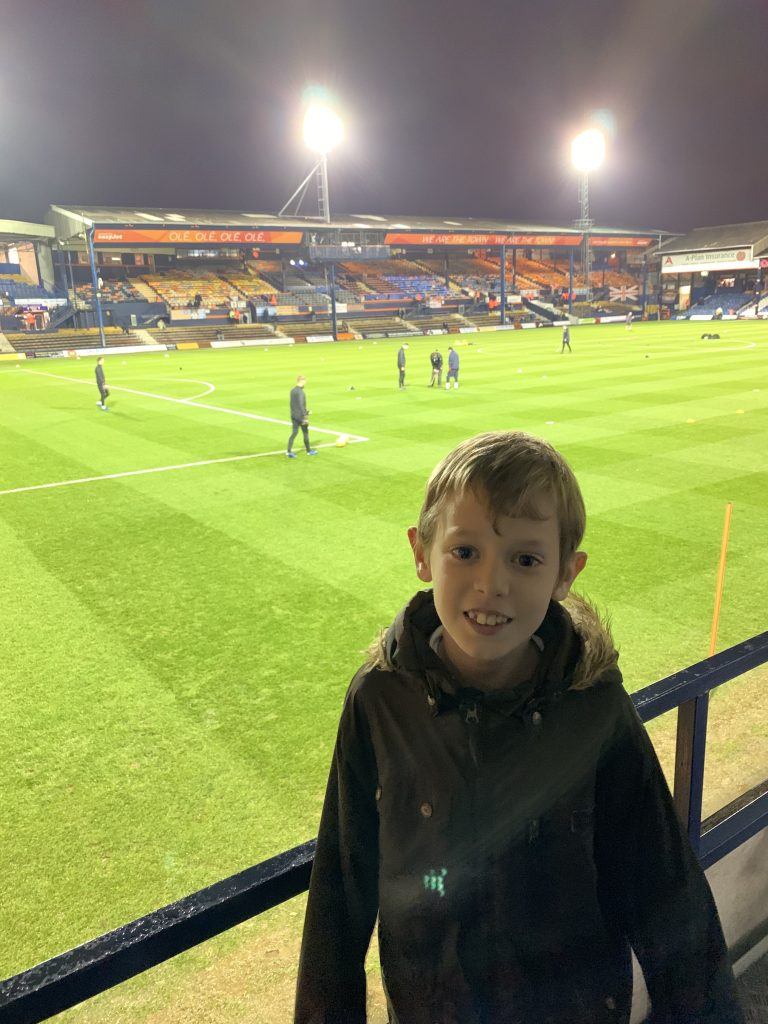 Our week in one picture - another trip to Kenilworth Road