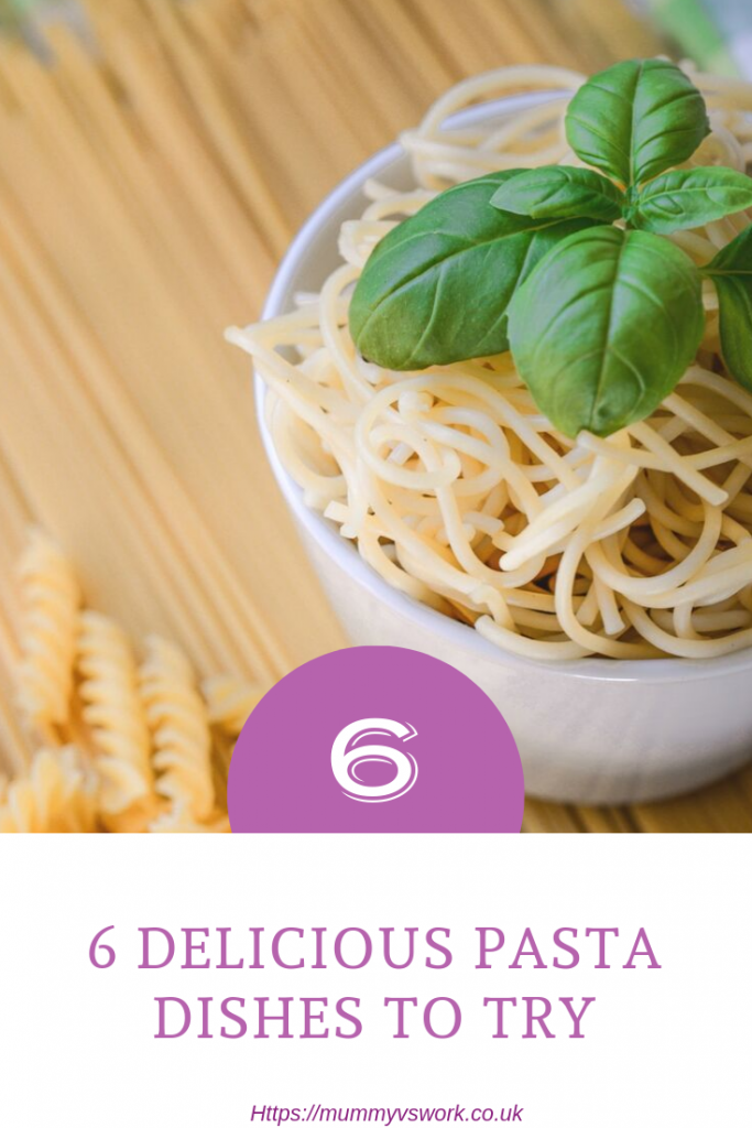 6 Delicious pasta recipes to try out