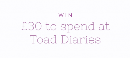 *Prize draw* Win £30 to spend at Toad Diaries