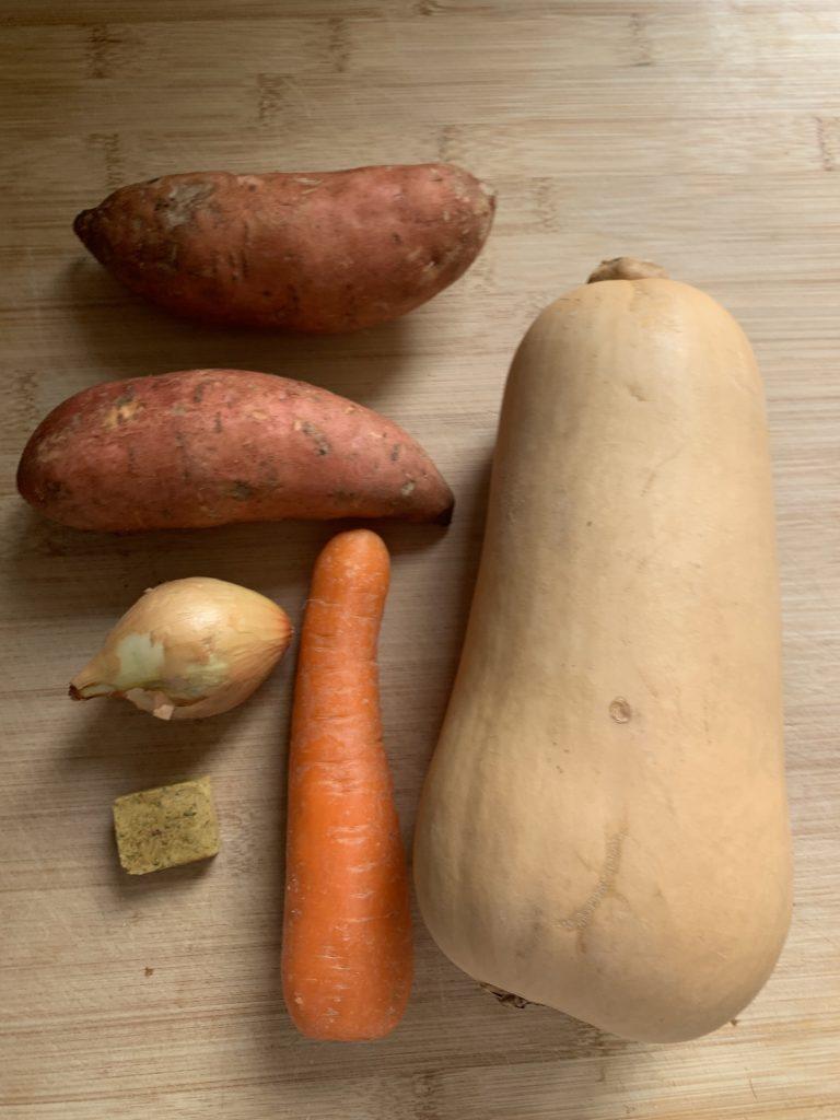 Sweet potato and butternut squash soup recipe