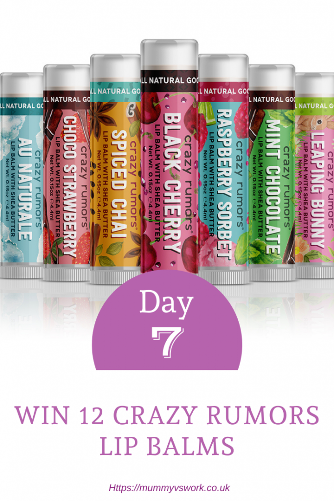Win 12 Crazy Rumors lip balms